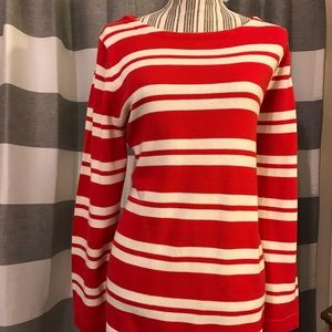 J. Crew red and white striped sweater